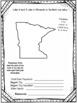 Minnesota State Research Report Project Template + bonus timeline Craftivity MN
