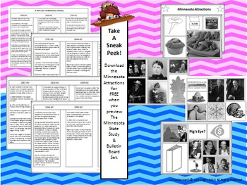 Minnesota State Study & Bulletin Board Set