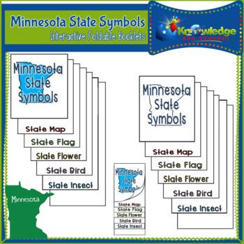 Minnesota State Symbols Interactive Foldable Booklets