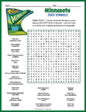 MINNESOTA State Symbols Word Search Puzzle Worksheet Activity