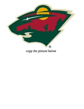 Minnesota WILD hockey cutter