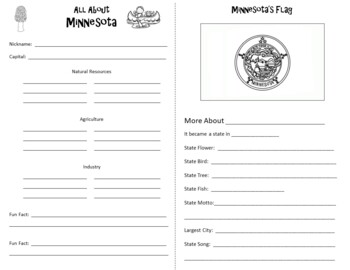 Minnesota Webquest Informational Reading Research Activity Mini Book