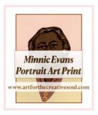 Minnie Evans Portrait Art Print