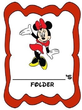 Minnie Mouse Binder Cover Sheets