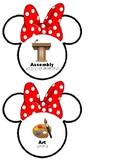 Minnie Mouse Printable Visual Timetable Task Cards