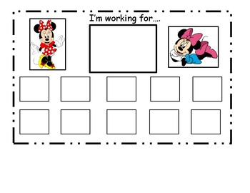 Minnie Mouse Token Board