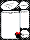 Minnie Mouse themed Class newsletter template - editable