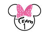 Minnie Team Cards 1-7