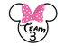 Minnie Team Cards 1-7