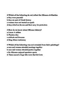 Minoan Civilization Ancient Greece Early Greek Civilization Informational Text