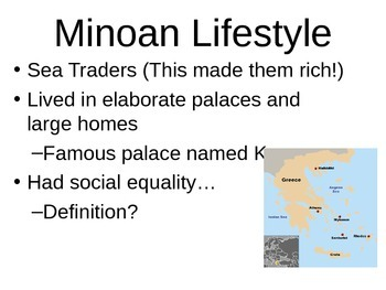 Minoan and Mycenaean Civilization Greece PPT (Editable)