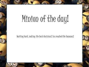 Minion clip chart