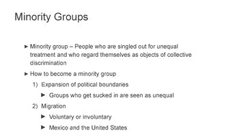 Minority/Majority and Prejudice/Discrimination PowerPoint and Notes