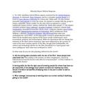 Minority Report Written Response