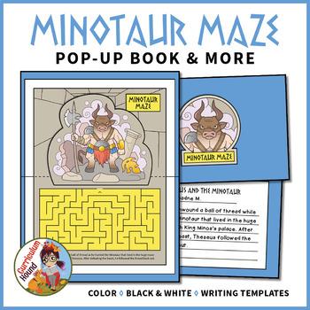 Minotaur Maze Pop-Up Book - Greek Mythology, Minoan History