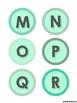 Mint Decor Alphabet Letters