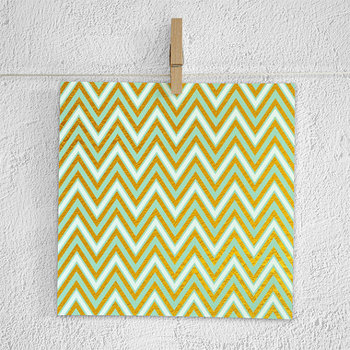 Mint Backgrounds With Gold Patterns