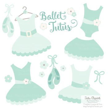Mint Ballet Clipart - Ballet Tutus, Ballet Clipart, Green Tutus