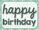 Mint Birthday Signs