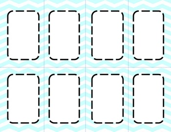 Mint Blue Chevron Classroom Labels and Tags