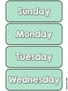 Mint Decor Calendar Set