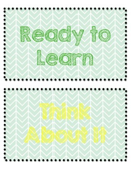 Mint Chevron Behavior Chart