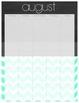 Lesson Planner Mint Chevron Chalkboard