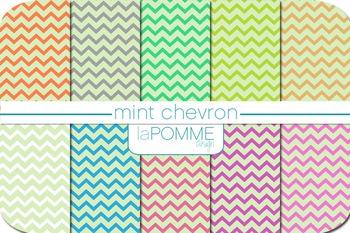 Mint Chevron Digital Paper Pack Freebie