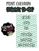 Mint Chevron Teacher To-Do Labels *Editable*