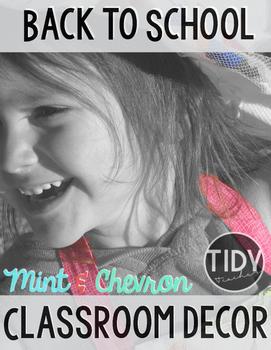 Mint & Chevron Ultimate Classroom Decor Pack!