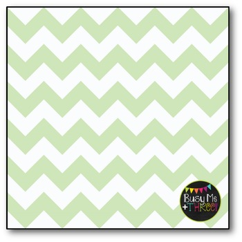 Mint Chocolate Chip Chevron Digital Papers {Commercial Use Digital Graphics}