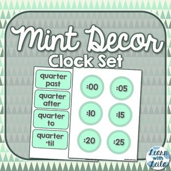 Mint Clock Labels