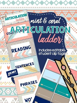 Mint & Coral - Articulation Clip Ladder