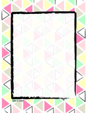 Mint & Coral Background Graphic - Binder cover