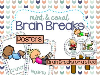 Mint & Coral Brain Breaks