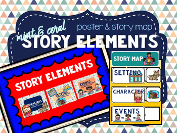 Mint & Coral - Story Element Posters & Story Map