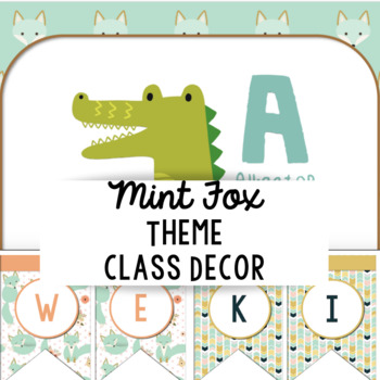 Mint Fox Class Decor