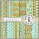 Mint & Gold Aztec Patterns
