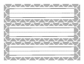 Mint Gray and Yellow Classroom Decor Set