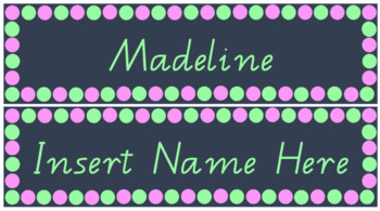 Mint Green & Baby Pink Tidy Tray Labels/ Name Labels