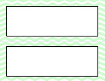Mint Green Chevron Classroom Labels