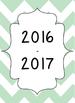 Mint Green Chevron Open-Binder Planner 2016-2017