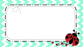 Mint Green Chevron Powerpoint with Ladybug Accents