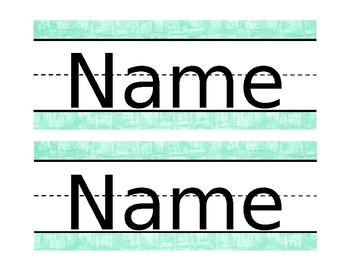 Mint Green Classroom Theme - Name Tags