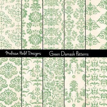Damask Patterns: Mint Green
