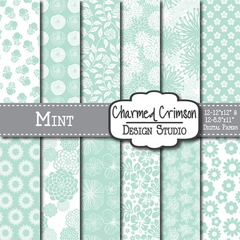 Mint Green Floral 1512