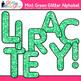 Mint Green Glitter Alphabet Clip Art | Glitter Letters for Classroom Decor