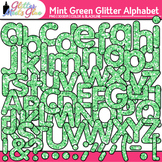 Mint Green Glitter Alphabet Clip Art {Glitter Meets Glue}