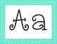 Mint Green Polka Dot Alphabet with 5 Fonts
