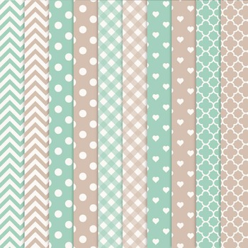 Mint Green Vector Owls & Papers - Baby Owl Clipart, Owl Clip Art, Baby Owls